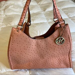 Handbags - Faux Leather Bag, pink
